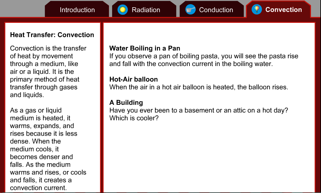 Heat Transfer: Heat Transfer Webquest